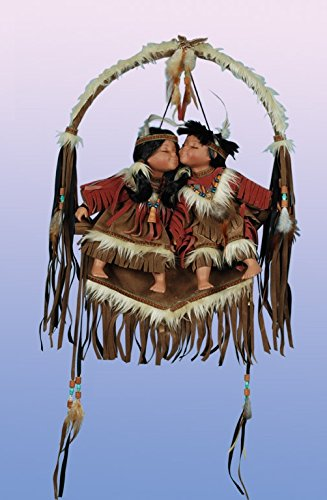 Collectable Native American/Indian Couple on a Dreamcatcher Swing Porcelain Doll (Native American Porcelain)