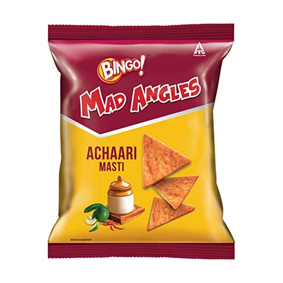 Bingo Mad Angles Achaari Masti, 36.5g Pouch