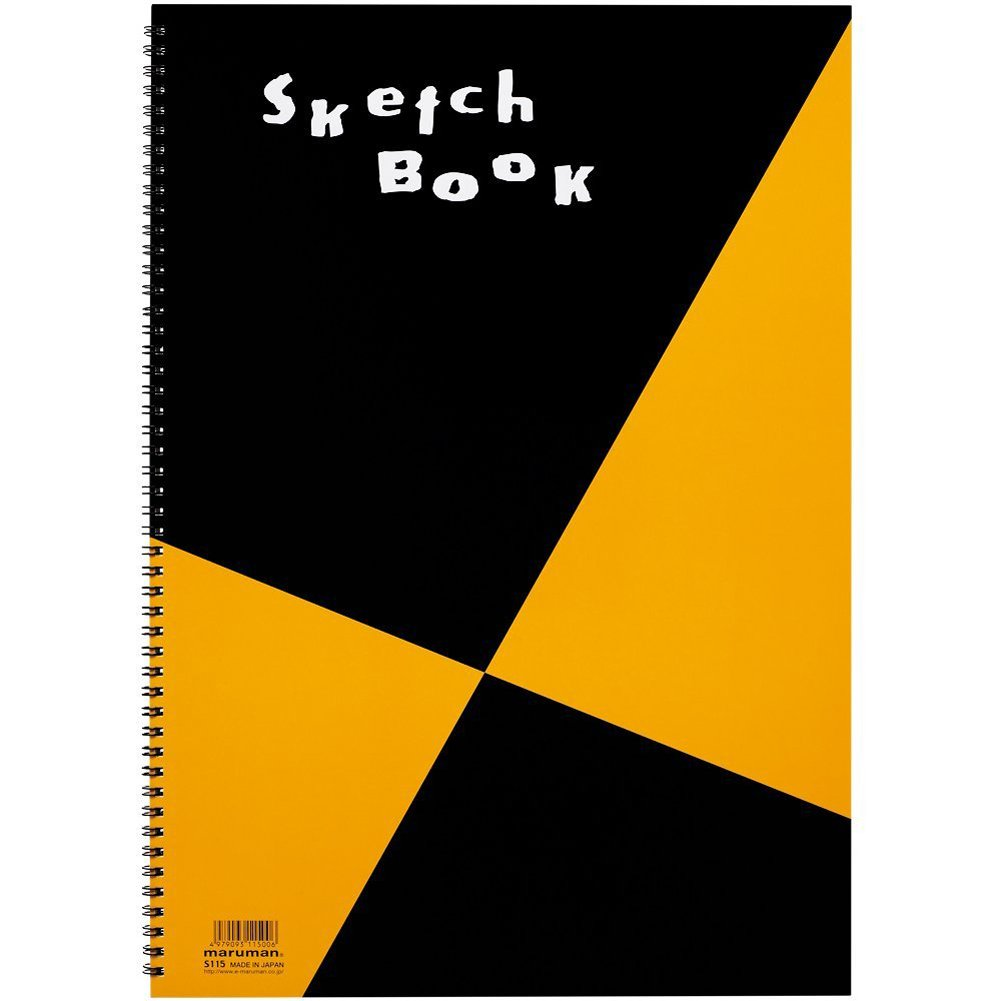 Maruman ZUAN Sketchbook 16.54 x 11.69 Inches (A3), Unruled, 24 pages (S115)