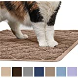 Gorilla Grip Original Premium Durable Cat Litter Mat (35x23), XL Jumbo, No Phthalate, Water Resistant, Traps Litter from Box and Cats, Scatter Control, Soft on Kitty Paws, Easy Clean Mats (Mocha)