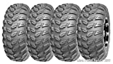 Set of 4 WANDA ATV/UTV Tires 26x9R14 Front & 26x11R14 Rear Radial 6PR Deep Tread