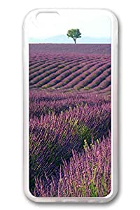 iPhone 6 Cases (4.7 inch) - New Best Rubber Bumper Clear Covers Purple Mountain Full