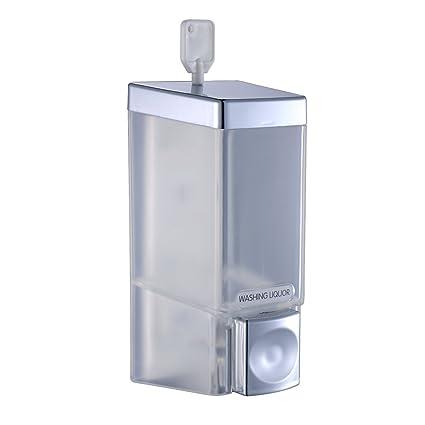 fapully One cámara de ducha dispensador de jabón cromado soporte de pared para ducha baño Hotel