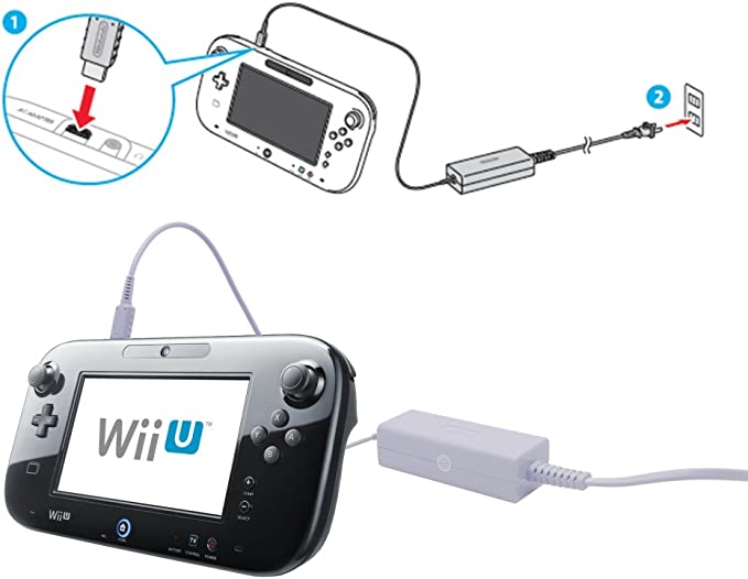 Amazon.com: SunMon Wii U GamePad cargador, fuente de ...