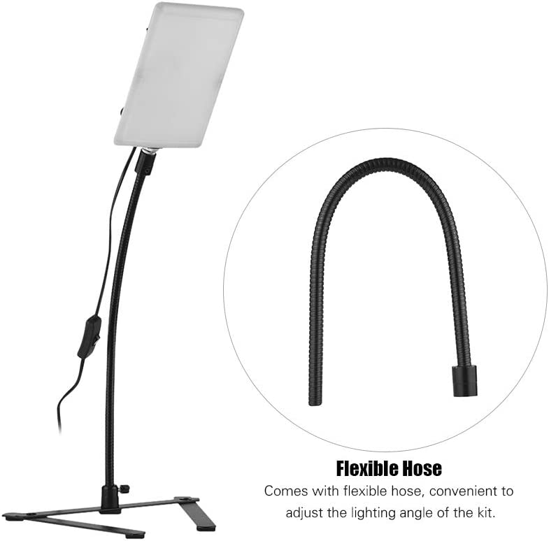 Flexible Hose and Light Base for Still Life Small Product Photography Andoer LED Video Light Kit with 5500K Mono-Color Tabletop Rectangular LED Video Light
