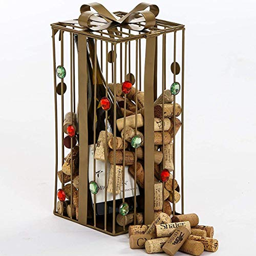 - Gold Holiday Gift Box Cork Caddy Displays and Stores over 200 Wine Corks by Picnic Plus