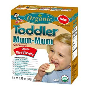 Hot Kid Organic Toddler Mum-Mum Caramel Flavor Rice Biscuit,  2.12-Ounce (Pack of 6)