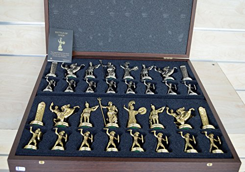 Greek Mythology X-Large Chess Set - Gold-Silver - Blue Chess ()