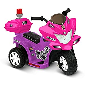 Ride-On-Toys-Battery-Powered-Lil-Patrol-6V-Battery-Powered-Motorcycle-by-Kidz-Motorz-Color-Pink-and-Purple