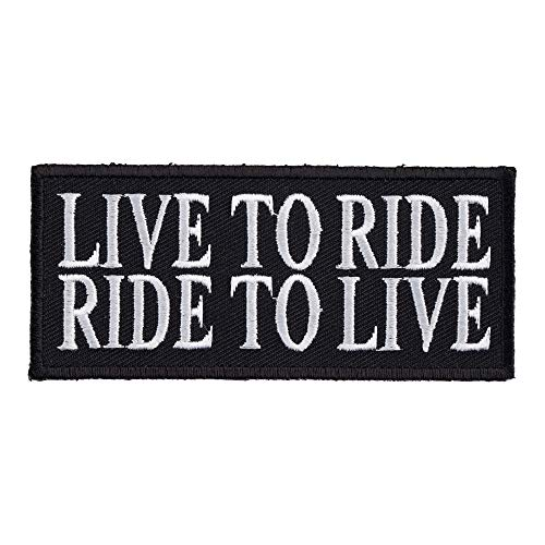 Live To Ride Ride To Live Patch, Biker Sayings Patches