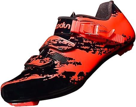 CUTICATE Zapatos de Bicicleta de Carretera/Zapatillas con Puntera ...