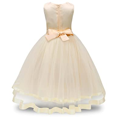 92ed741d2238 Amazon.com  KONFA Toddler Baby Girls Tulle Gown Princess Skirt ...