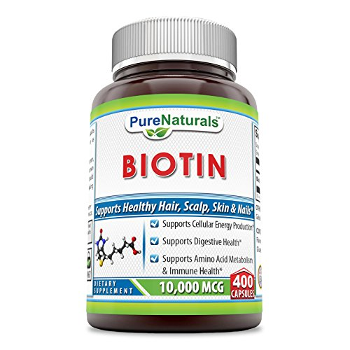 Pure Naturals Biotin 10,000 Mcg, Capsules- Supports Healthy Skin & Hair - Promotes Overall Good Health (400 Capsules)