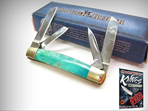 - ROUGH RIDER Turquoise Bone TINY CONGRESS 4 Blade Folding Pocket Knife 0011257 New + free eBook by ProTactical'US