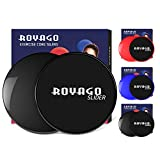 Royago Exercise Fitness Sliders Dual Sided Sliding Discs for Gliding Discs Exercise to Enhance Coordination of Whole Body,Abdominal Exercise Equipment,Perfect for Carpet or Hardwood Floors (Black) Review
