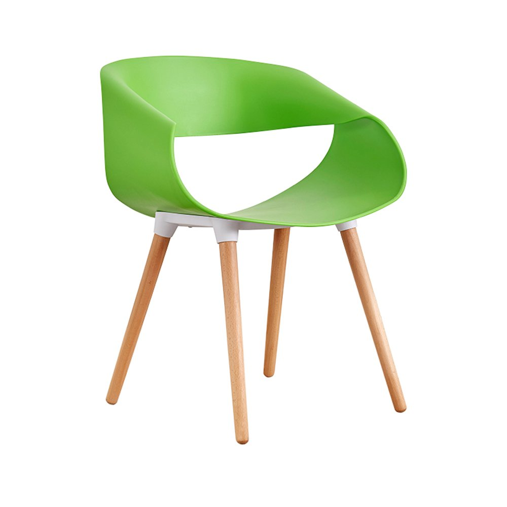 Green ZHPRZD Dining Chair Adult Chair Restaurant Modern Minimalist Household Plastic Chair Creative Desk Nordic Wind Stool (color   orange)