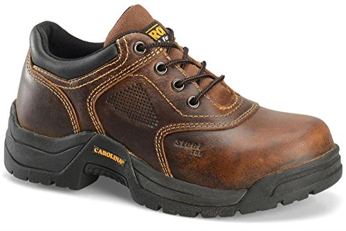 Shoe Carolina Oxfords (Carolina Women's Steel Broad Toe ESD Oxford,Dark Brown Leather,US 11 W)