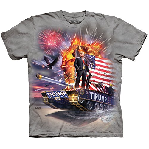 The Mountain Men's the Epic Trump Adult T-Shirt, Grey, 3XL