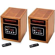 Dr. Infrared Heater Portable Space Heater, 2 Pack, 1500-Watt