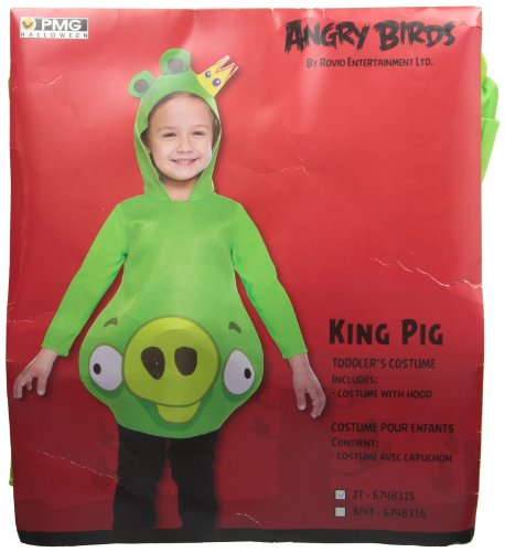 [Angry Birds Green Pig Costume - 3T/4T] (King Toddler Costume)