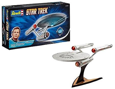 Revell Modellbausatz Star Trek - U.S.S. Enterprise NCC-1701 im Maßstab 1:600, Star Trek The Original Series, Level 3, originalgetreue Nachbildung mit vielen Details - 04880 Revell_04880