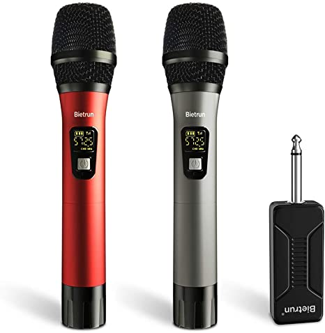 UHF Wireless Dual Handheld Dynamic Mic System Set