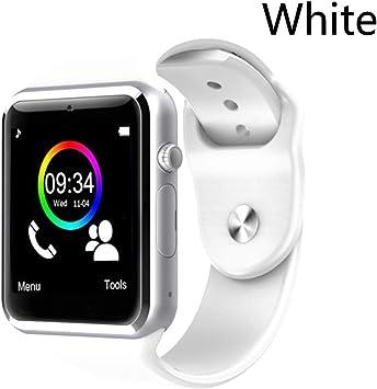 LIAOCHEN Inteligente Reloj del Deporte del podómetro con el SIM Cámara SmartWatch for Android Smartphone Mujeres de los Hombres SmartWatch (Color : White, Size : with Box): Amazon.es: Electrónica