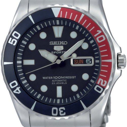 4517dedd4daa2 Amazon.com  Seiko 5 Blue Dial Stainless Steel Automatic Mens Watch SNZF15   Seiko  Watches