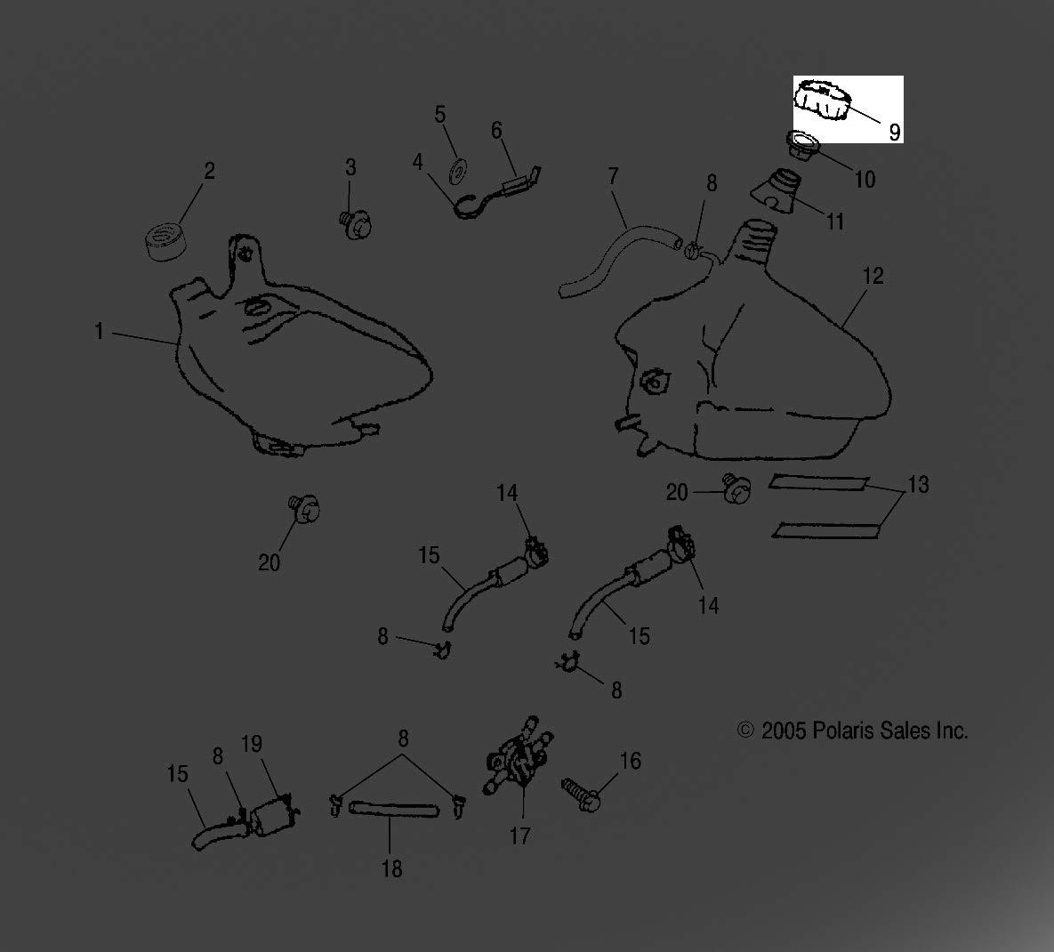 wiring diagram 2006 polaris sportsman 90 amazon com fuel tank cap scrambler50 90 2003 predator 90 2003  amazon com fuel tank cap scrambler50