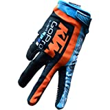 Troy Lee Designs KTM Team Licensed Air Men's Bike Sports BMX Gloves - Navy/Cyan / Medium
