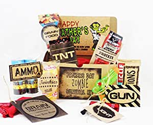 Father's Day Zombie Survival Kit Gift Basket (Complete Kit)