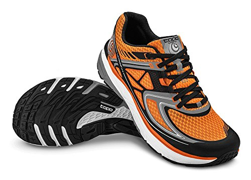 Topo-Mens-Ultrafly-Running-Shoe-OrangeBlack-Size-85