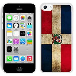 Beautiful And Unique Designed Case For iPhone 5C With Dominican Republic Flag White Phone Case