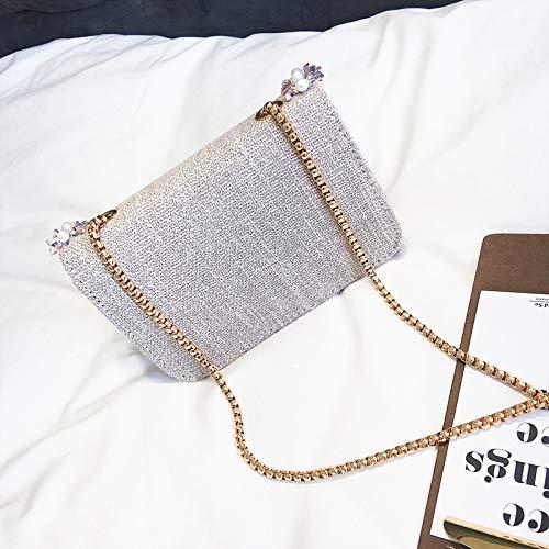 Borsa Borsa zaino catena JUNMAONO a Rice Donna Borse pelle per Messenger Borse elegante vintage tracolla PU a tela donne tracolla spiaggia Bag Borsa borsetta Borsa da Borse 6gYq6