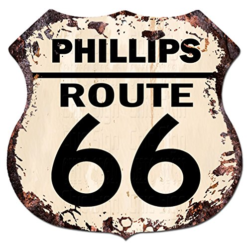 Phillips Route 66 Chic Sign Vintage Retro Rustic 11 5 X 11 5  Shield Metal Plate Store Home Room Wall Decor Gift Ideas