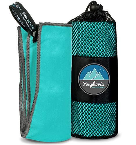 Youphoria Microfiber Quick Dry Travel Towel Carry Case - Fas
