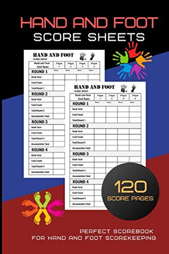 (Hand And Foot Score Sheets: Hand And Foot Score Pad   Canasta Style Score Sheets   Score Keeper Notebook   Perfect Scorebook for Hand and Foot ... for ScoreKeeping  Size : 8.5