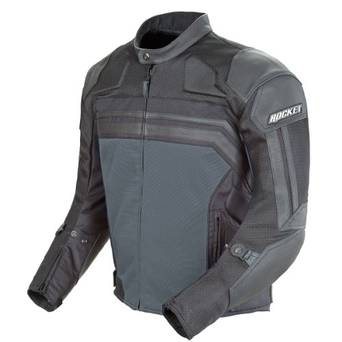 Joe Rocket Reactor 3 Men's Mesh and Leather Motorcycle Ja...