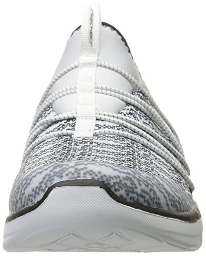 Skechers Damen Synergy 2.0-semplicemente Chic Slip On Sneaker Bianco / Nero