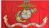 Red Deluxe USMC Marine Corps Flag (3' x 5')