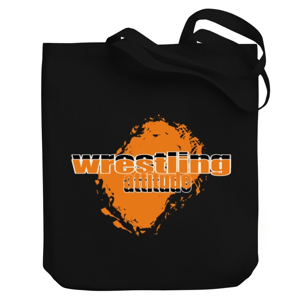 Teeburon Wrestling attitude Canvas Tote Bag