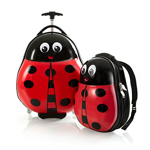 Heys Travel Tots Lightweight Kids Luggage & Backpack Set, 2 pc (LADY BUG)