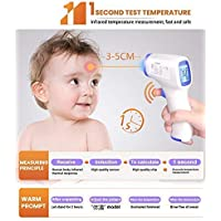 Infrared Thermometer, Digital Infrared Forehead Thermometer, Non-Contact Digital Thermometer with Fever Alert Function, Forehead Thermometer for Baby, Infants, Adults …