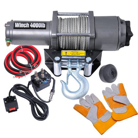 Off Road Truck SUV Jeep Trailer Corded Remote 4000 ATV Electric Recovery Winch 12 Volt