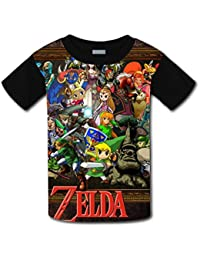 Kids Youth The Legend of Zelda is coming 3D Short Sleeve T-Shirts