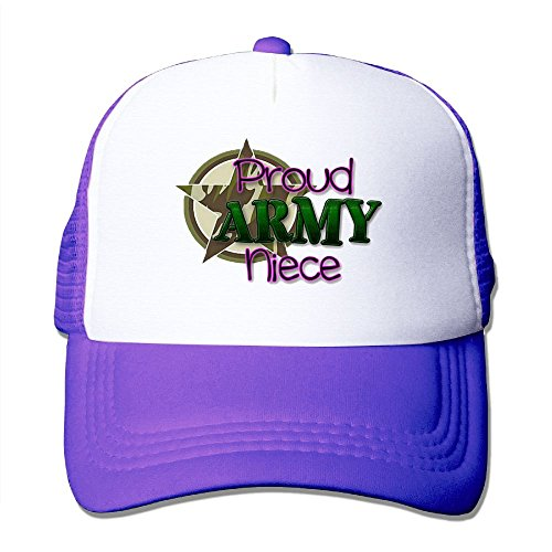 ZhiqianDF Momen Proud ARMY Niece Cool Football Purple Mesh Caps Adjustable - Boots Ralph Lauren Glasses