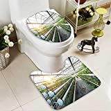 Bathroom Non-Slip Floor Mat vegetables plants growing in a greenhouse witch made from metal profile with High Absorbency