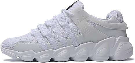 WDDGPZYDX Tallas Grandes 39-46 Zapatos de los Hombres Zapatillas Colección Moda Malla Transpirable Primavera/Otoño Ligero Zapatos cómodos Ocasionales,718-2 Blanco,7: Amazon.es: Deportes y aire libre