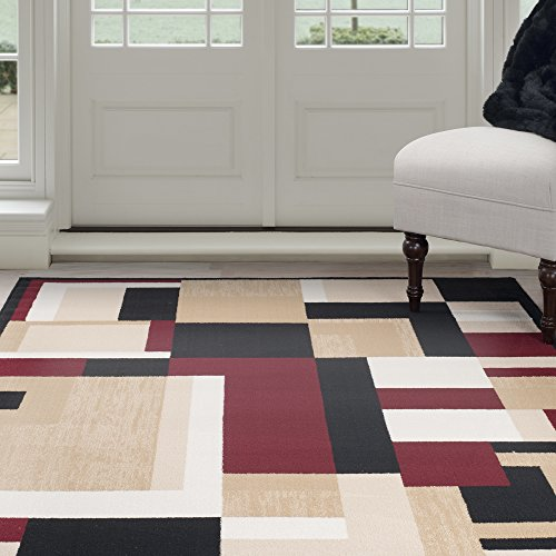 red black tan area rug. Black Bedroom Furniture Sets. Home Design Ideas