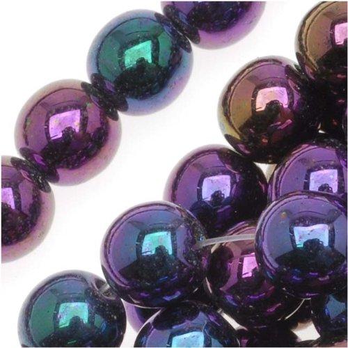 Czech Glass Druk Round Beads 6mm Purple Iris (50)